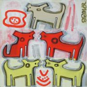 Original art for sale at UGallery.com | Ghost Dogs by Jessica JH Roller | $210 | acrylic painting | http://www.ugallery.com/acrylic-painting-ghost-dogs