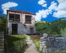 Original art for sale at UGallery.com | Abandoned Village House by Patricia Freeman | $475 | acrylic painting | http://www.ugallery.com/acrylic-painting-abandoned-village-house