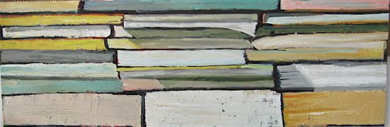 Original art for sale at UGallery.com   Books 2 by Kim Kitz   $600   oil painting   http://www.ugallery.com/oil-painting-books-2