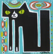 Original art for sale at UGallery.com | Eddie The Cat- Commission by Jessica JH Roller | $350 | acrylic painting | http://www.ugallery.com/acrylic-painting-eddie-the-cat-commission