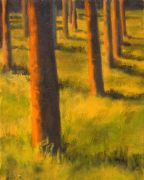Original art for sale at UGallery.com | Arbres by Mandy Main | $325 | oil painting | http://www.ugallery.com/oil-painting-arbres
