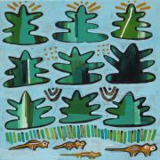 Original art for sale at UGallery.com | Chipmunks and Pine Trees by Jessica JH Roller | $275 | acrylic painting | http://www.ugallery.com/acrylic-painting-chipmunks-and-pine-trees