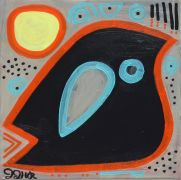 Original art for sale at UGallery.com | Crow by Jessica JH Roller | $275 | acrylic painting | http://www.ugallery.com/acrylic-painting-crow