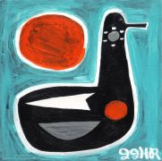 Original art for sale at UGallery.com | BLACK DUCK by Jessica JH Roller | $275 | acrylic painting | http://www.ugallery.com/acrylic-painting-black-duck