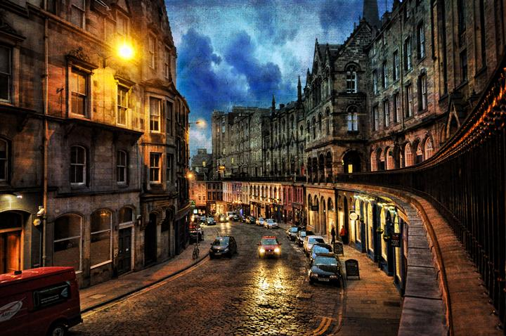 Discover Original Art by Noelle Visconti | A Typical Night in Edinburgh, Scotland photography | Art for Sale Online at UGallery