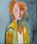 Original art for sale at UGallery.com | The Waif by Carolyn Schlam | $1,350 | oil painting | http://www.ugallery.com/oil-painting-the-waif