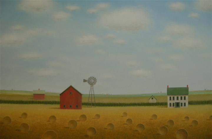 Original art for sale at UGallery.com | Windmill on the Old Farmstead by SHARON  FRANCE | $1,575 | Acrylic painting | 24' h x 36' w | http://www.ugallery.com/acrylic-painting-windmill-on-the-old-farmstead