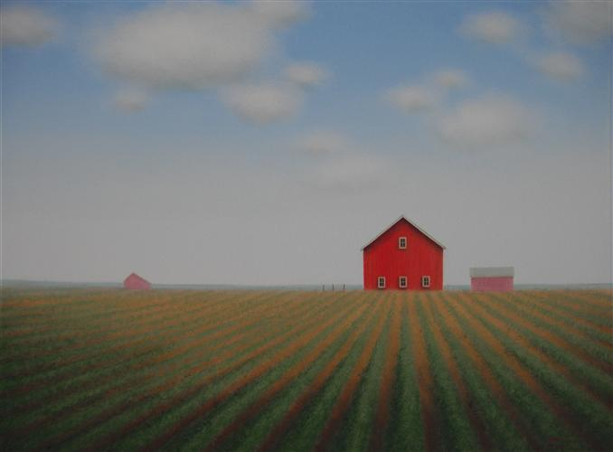 Original art for sale at UGallery.com | Beyond the Rows by SHARON  FRANCE | $650 | Acrylic painting | 12' h x 16' w | http://www.ugallery.com/acrylic-painting-beyond-the-rows