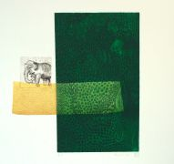 Original art for sale at UGallery.com | Deep Green by Fumiko Toda | $850 | printmaking | http://www.ugallery.com/printmaking-deep-green