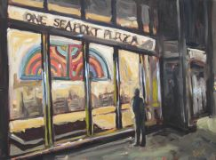 Discover Original Art by Elliot Coatney | One Seaport Plaza acrylic painting | Art for Sale Online at UGallery
