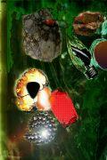 Expressionism art,Fantasy art,Surrealism art,printmaking,New Flying Rocks 7