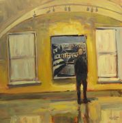 Discover Original Art by Elliot Coatney | Diebenkorn's View of Oakland in DC acrylic painting | Art for Sale Online at UGallery