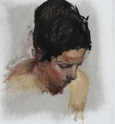 Original art for sale at UGallery.com | Simone by Sara Sisun | $500 | oil painting | http://www.ugallery.com/oil-painting-simone