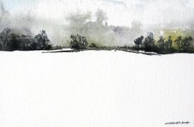 Discover Original Art by Charles Ash |  Misty Mountain watercolor painting | Art for Sale Online at UGallery