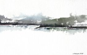 Discover Original Art by Charles Ash | Grand Lake watercolor painting | Art for Sale Online at UGallery