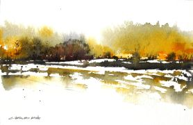 Discover Original Art by Charles Ash | Aspen Basin watercolor painting | Art for Sale Online at UGallery