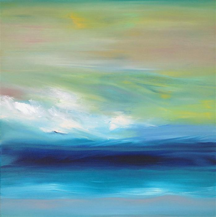 Original art for sale at UGallery.com | OceanScape by MICHELE MORATA | $800 | Oil painting | 20' h x 20' w | http://www.ugallery.com/oil-painting-oceanscape-5036