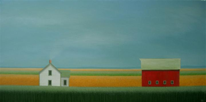 Original art for sale at UGallery.com   In the Quiet Fields by SHARON  FRANCE   $1,375   Acrylic painting   18' h x 36' w   http://www.ugallery.com/acrylic-painting-in-the-quiet-fields