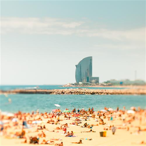 Original art for sale at UGallery.com | La Barceloneta by JOANNA PECHMANN | $160 |  | ' h x ' w | http://www.ugallery.com/photography-la-barceloneta