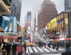 Original art for sale at UGallery.com | Times Square by Patricia Freeman | $300 | acrylic painting | http://www.ugallery.com/acrylic-painting-times-square
