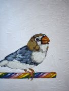 Original art for sale at UGallery.com | Candy Cane Perch by Nicole Newsted | $550 | oil painting | http://www.ugallery.com/oil-painting-candy-cane-perch