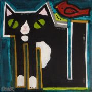 Original art for sale at UGallery.com | Peter the Cat Commission by Jessica JH Roller | $300 | acrylic painting | http://www.ugallery.com/acrylic-painting-peter-the-cat-commission