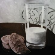 Original art for sale at UGallery.com | The Art of Eating Cookies by Patricia Freeman | $225 | acrylic painting | http://www.ugallery.com/acrylic-painting-the-art-of-eating-cookies