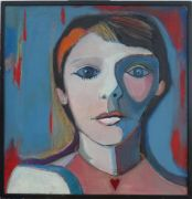 Original art for sale at UGallery.com | Girl with Heart by Carolyn Schlam | $1,675 | oil painting | http://www.ugallery.com/oil-painting-girl-with-heart