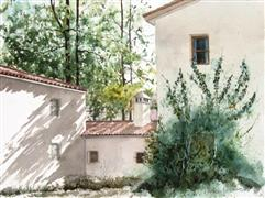Discover Original Art by Charles Ash | Ivy Wall watercolor painting | Art for Sale Online at UGallery