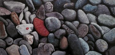 Original art for sale at UGallery.com | Ladybug-Rocks by Patricia Freeman | $300 | acrylic painting | http://www.ugallery.com/acrylic-painting-ladybug-rocks