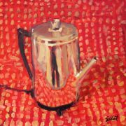 Discover Original Art by Elliot Coatney | Coffee Pot acrylic painting | Art for Sale Online at UGallery