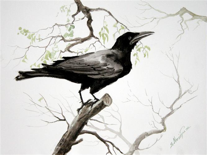 Abstract Crow Art - Bi...