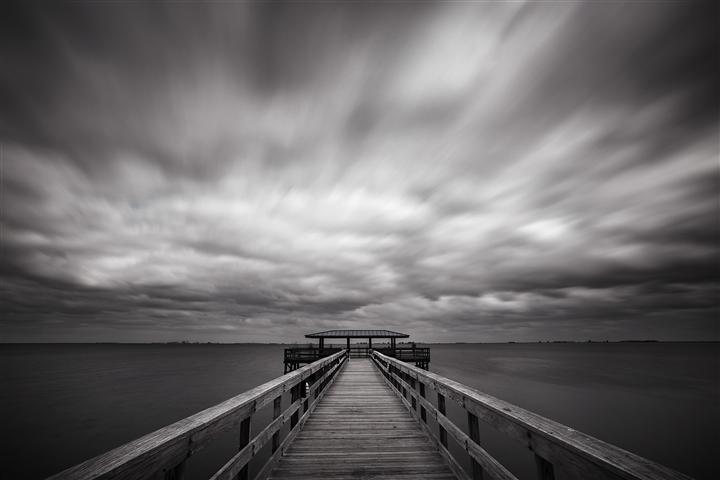 Original art for sale at UGallery.com | The Pier at Safety Harbor by ANDREW VERNON | $195 |  | ' h x ' w | http://www.ugallery.com/photography-the-pier-at-safety-harbor