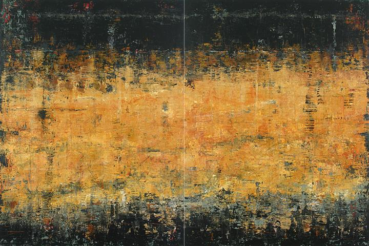 Original art for sale at UGallery.com | Dancing Through October by PATRICIA OBLACK | $9,350 | Acrylic painting | 48' h x 72' w | http://www.ugallery.com/acrylic-painting-dancing-through-october