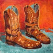 Discover Original Art by Elliot Coatney | Boots II acrylic painting | Art for Sale Online at UGallery
