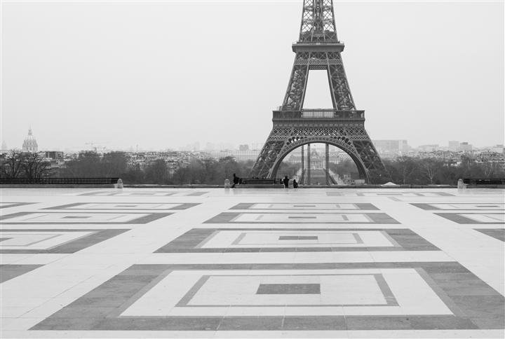 Original art for sale at UGallery.com | Early Morning at the Eiffel Tower by REBECCA PLOTNICK | $195 |  | ' h x ' w | http://www.ugallery.com/photography-early-morning-at-the-eiffel-tower