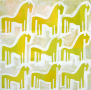 Original art for sale at UGallery.com | Ponies at Sunrise by Jessica JH Roller | $750 | acrylic painting | http://www.ugallery.com/acrylic-painting-ponies-at-sunrise