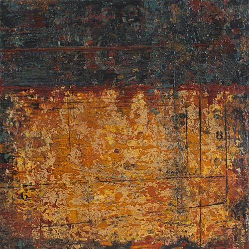Original art for sale at UGallery.com | Time Chips Away - Cortona Series by PATRICIA OBLACK | $825 | Acrylic painting | 16' h x 16' w | http://www.ugallery.com/acrylic-painting-time-chips-away-cortona-series