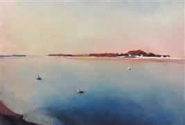 Seascape art,oil painting,Winter Sunrise at Pine Point