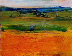 Original art for sale at UGallery.com | Orange Landscape by Sidonie Caron | $1,600 | acrylic painting | http://www.ugallery.com/acrylic-painting-orange-landscape