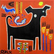 Original art for sale at UGallery.com | Bubba The Dog- Gina's Commission by Jessica JH Roller | $250 | acrylic painting | http://www.ugallery.com/acrylic-painting-bubba-the-dog-gina-s-commission
