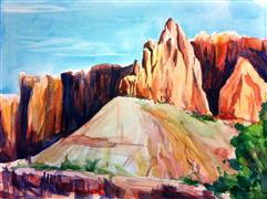 "Original art for sale at UGallery.com | Capitol Reef: ""The Fin"" by Kelly Eddington 