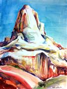 Original art for sale at UGallery.com | Capitol Reef: Fruita Peak by Kelly Eddington | $250 | watercolor painting | http://www.ugallery.com/watercolor-painting-capitol-reef-fruita-peak