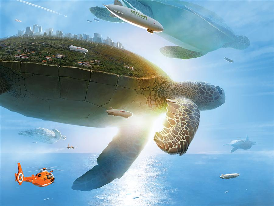Original art for sale at UGallery.com | Utopia by ALEX ANDREEV | $1,550 | Digital printmaking | 27.6' h x 36.7' w | http://www.ugallery.com/printmaking-digital-utopia