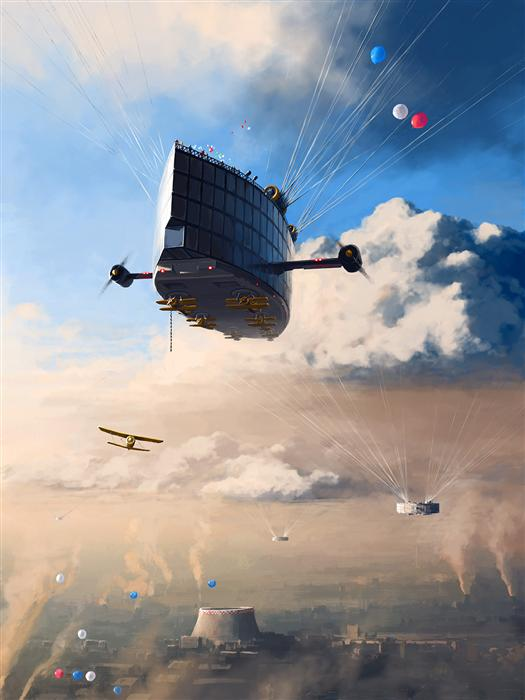 Original art for sale at UGallery.com | Under The Clouds by ALEX ANDREEV | $1,550 | Digital printmaking | 36.7' h x 27.6' w | http://www.ugallery.com/printmaking-digital-under-the-clouds