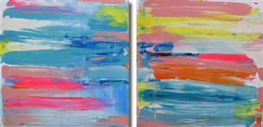 Original art for sale at UGallery.com | Sunset Series Honeymoon by Gloria Blatt | $1,550 | acrylic painting | http://www.ugallery.com/acrylic-painting-sunset-series-honeymoon
