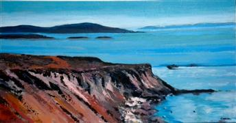 Original art for sale at UGallery.com | San Juan Islands by Sidonie Caron | $2,350 | acrylic painting | http://www.ugallery.com/acrylic-painting-san-juan-islands