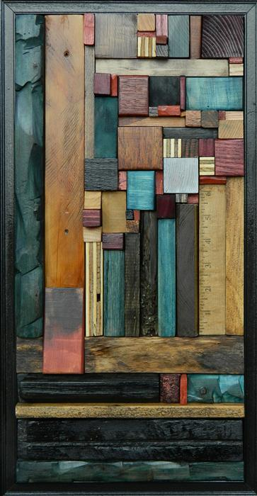 Original art for sale at UGallery.com | Between the Lines by HEATHER PATTERSON | $975 | Mixed media artwork | 21' h x 11' w | http://www.ugallery.com/sculpture-between-the-lines