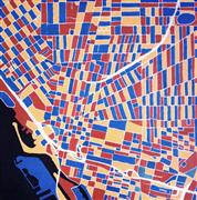 Abstract art,Pop art,City art,oil painting,Primary Buffalo