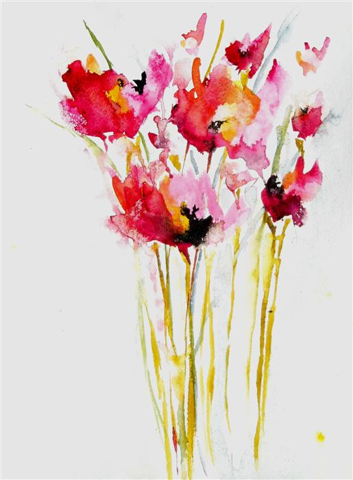 com   Pink Poppies by Karin Johannesson    400   watercolor painting    Poppies Watercolor Painting